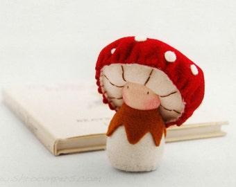 Mushroom Waldorf Felt Doll / Musca