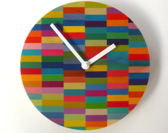 Objectify Color Block Wall Clock