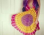 Handmade Hippie Dress, NEW LENGTH, Mini Dress, Backless Dress, Festival, Bohemian, Hula Hoop Dress, Peacock Dress, Festival, Mandala