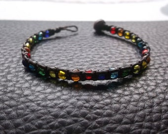 Colorful beads bracelet Thailand handmade jewelry on summer gift new collection by Nannapatt