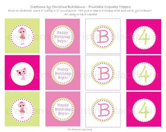 Lalaloopsy - Jewel Sparkles Personalized Party Printable Cupcake Toppers (Digital File)