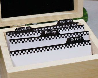 Recipe Card Dividers [recipe cards, dividers, recipe box dividers, 4 x 6] -gfyRECIPEDIVIDERS