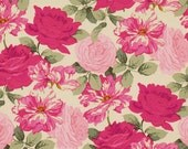 62501 -  Martha Negley Rose garden collection PWMN070 Striped rose in bright color cotton fabric- 1 yard