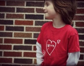 Valentine's Day swoon heart and arrow kids t-shirt