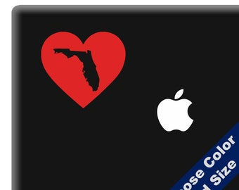 I Heart Florida State Decal - Love - for Laptop, Car, iPhone