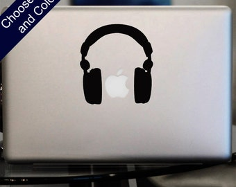 Headphones Decal - Sticker for Laptop, Car, iPhone