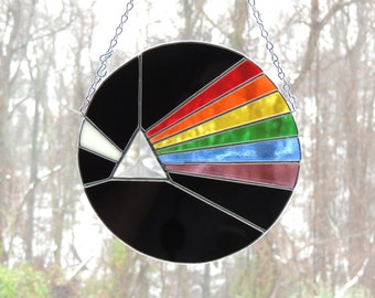 Pink Floyd Dark Side of the Moon Stained Glass