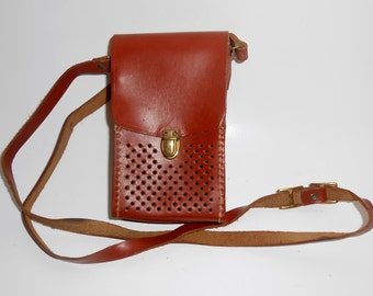 Vintage Leather Transistor Radio Case 1950's