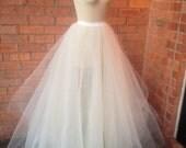 Custom Tulle Ballgown Skirt with Satin Jersey Waistband