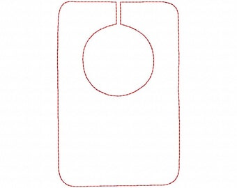 Bib - Reverse Applique - Machine Embroidery - 14 Sizes