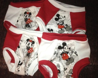 Mickey and Minnie Training Underwear - Set of Four