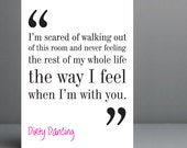 Dirty Dancing Movie Quote. Typography Print - 8x10 on A4 Archival Matte Paper