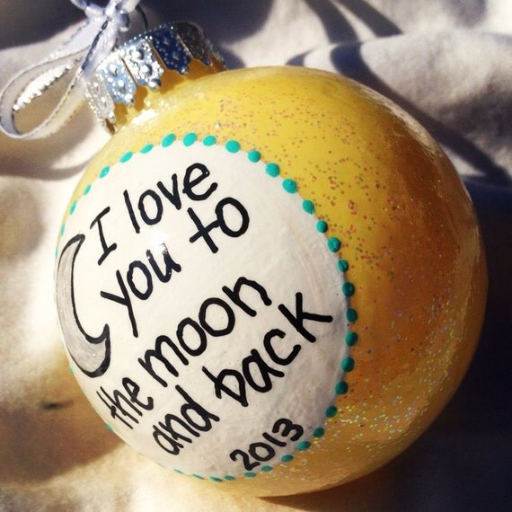 Items Similar To I Love You To The Moon And Back Vinyl: Items Similar To Holiday Christmas Ornament