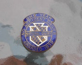 1939 Enameled Pin No Accident Driver Award National Dairy