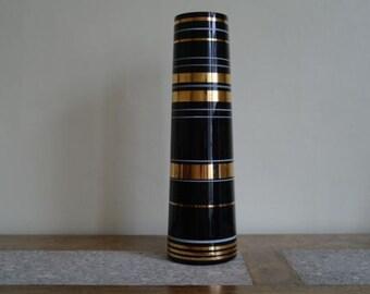 Vintage Borske Sklo Purple Tapered Vase