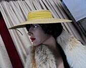 Hat, Edwardian, Titanic, My Fair Lady, Antique Straw hat.
