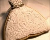 Cookies - Wedding Gown Sugar Cookies - 5.25 each. Wedding Favors - Rehearsal Dinner Favors- Custom Colors