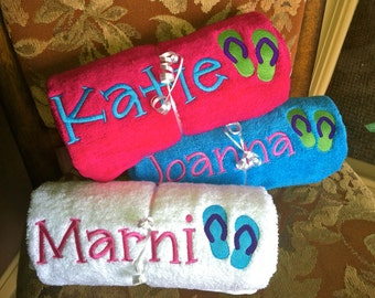 Personalized Flip Flop Beach Towels