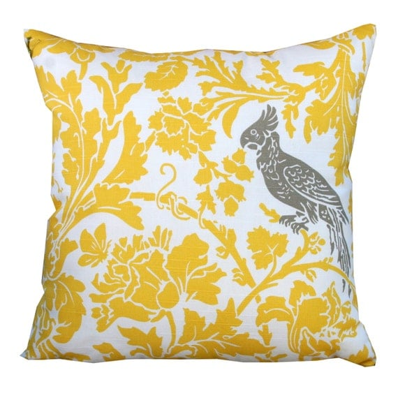 Throw Pillows For Taupe Sofa : Throw Pillows Premier Prints Yellow and by ModernalityHomeDecor