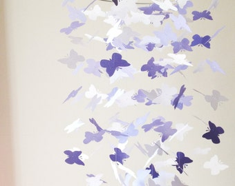 The Dream Girl Lavender Butterfly Mobile / / / Nursery Decor, Photo Prop, Baby Shower, CribMobile.