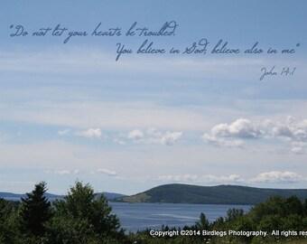 Nova Scotia Landscape with Bible Verse