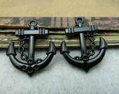 10pcs 20x25mm The Anchor Black Bronze Retro Pendant Charm For Jewelry Bracelet Necklace Charms Pendants C6435