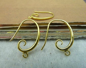 8pcs 14x20mm The Gold  Ear Hook Charm For Earring Pendant C2577