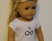 Hand Painted Harry Potter Inspired Tee Shirt for American Girl or Other 18 Inch Dolls