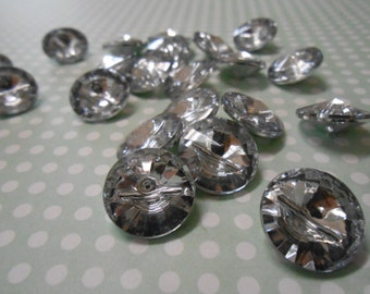 Buttons Crystal Effect 10pcs