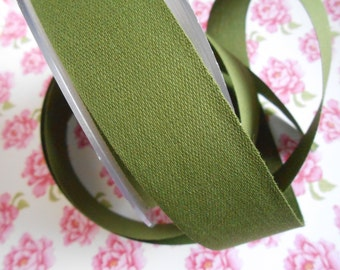 """Canvas Tape Olive Green Cotton 1 1/4""""width 5yds"""
