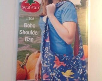 Reversible Boho Shoulder Bag by Sew Fun - Pattern