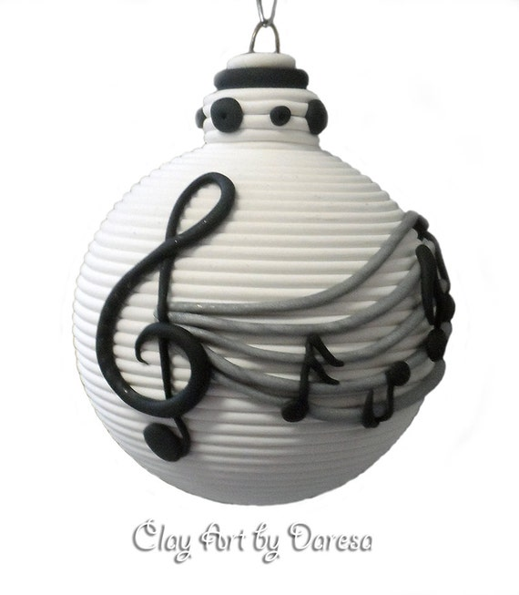 Items Similar To Music Notes Polymer Clay Ornament On Etsy