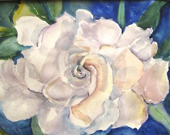 Original Watercolor Painting  Magnolia Floral Flower  original art  11 x 15  carlottasart