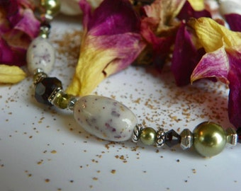 Keepsake Necklace with YOUR dried flowers, fabrics, sand, shells, from a wedding, anniversary, funeral, birth, honeymoon