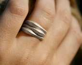 STACK RINGS - Solid sterling silver 3D printed stackable rings