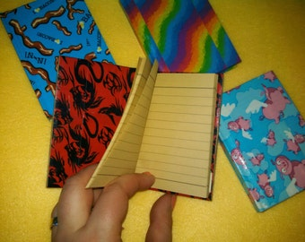 Duct Tape Mini Journal - recycled paper