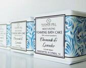 Chamomile Lavender Foaming Bath Cake Bubble Bar Moisturizing Bath Melt Truffle Bomb