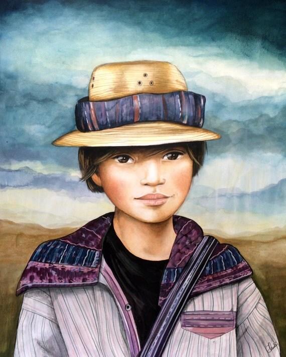 Little boy from Todo Santos,  Guatemala,
