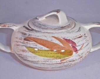 Vernon Kilns Sugar Bowl Trade Winds Sugar Bowl and Lid