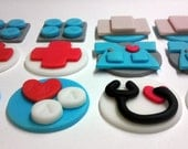 Mini Nurse, Graduation, Retirement, Birthday, Personalized, Edible Fondant, Miniature Cupcake Toppers