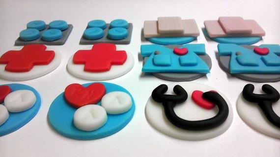 Mini Nurse, Graduation, Retirement, Birthday, Personalized, Edible Fondant, Miniature Cupcake Toppers