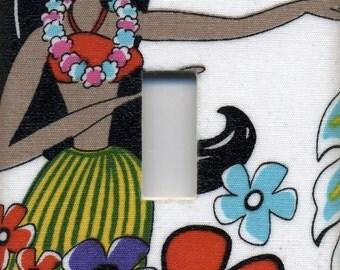 Hula Girl Single Light Switch Plate