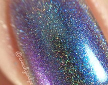 Intelligent Design ~ Holographic Multi Chrome Color Shift Spectraflair Rainbow Spectrum Nail Polish by MDJ Creations