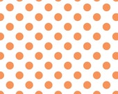 Orange and White Polka Dot Fabric - Medium Dots from Riley Blake 1/2 Yard