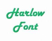 Harlow Machine Embroidery Font Alphabet - 3 Sizes