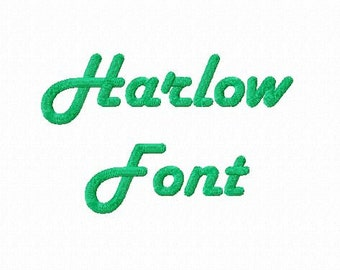 Harlow Machine Embroidery Font Alphabet - 3 Sizes