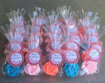 40 ROSE SOAPS {Favors} - Bridal Shower Favor, Wedding Favor, Valentine's Day, Mothers Day, Perfect Gift