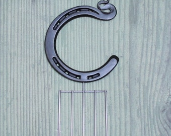 Wedding cake topper initial C, engraving available