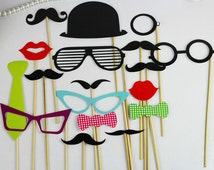 wedding Photo Booth Props - 31 Pieces
