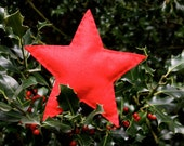 Red Christmas Star Tree Topper - Traditional Christmas